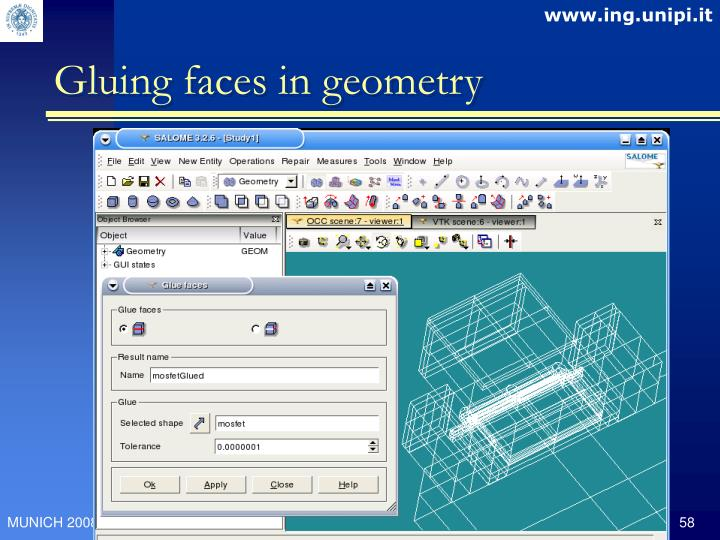 Gluing faces in geometry