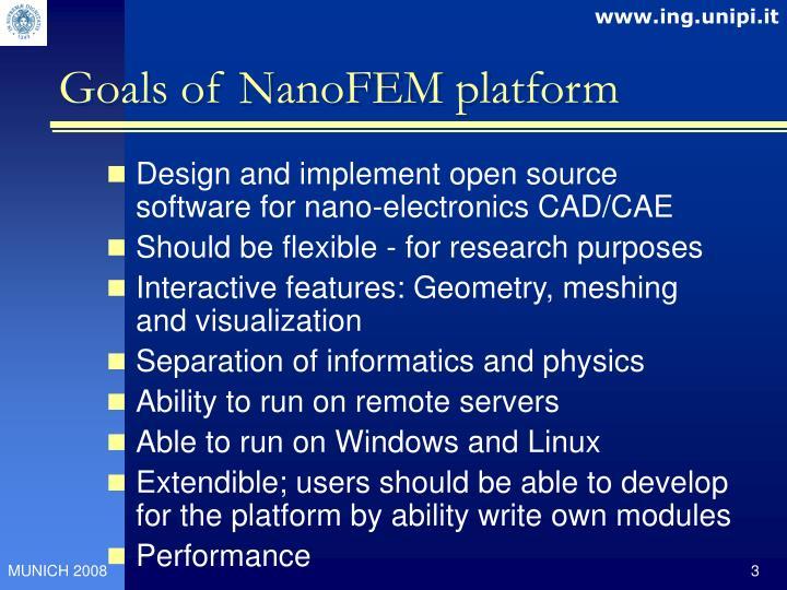Goals of NanoFEM platform