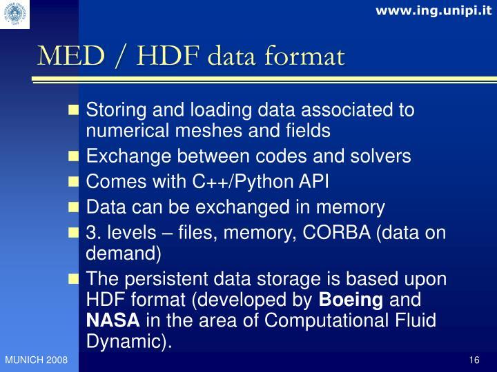 MED / HDF data format