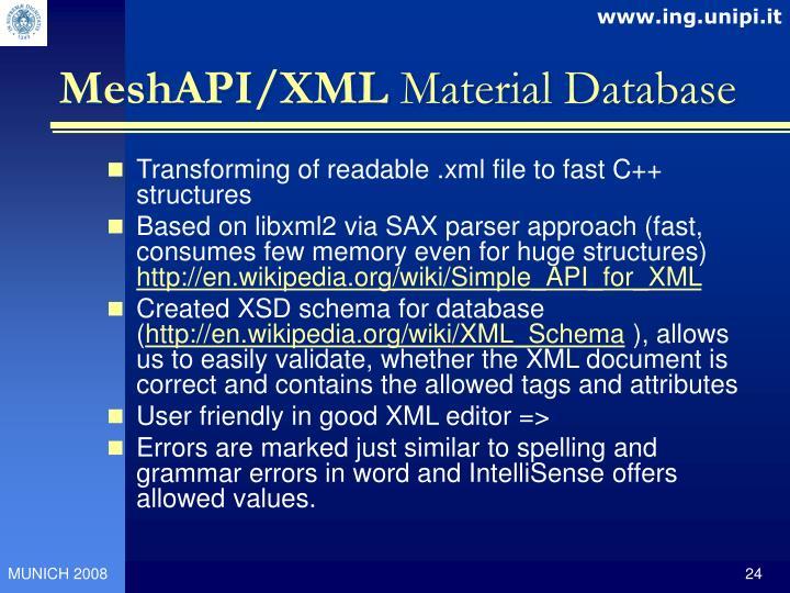 MeshAPI/XML