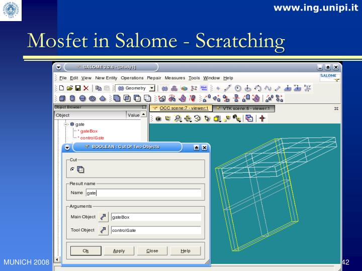 Mosfet in Salome - Scratching