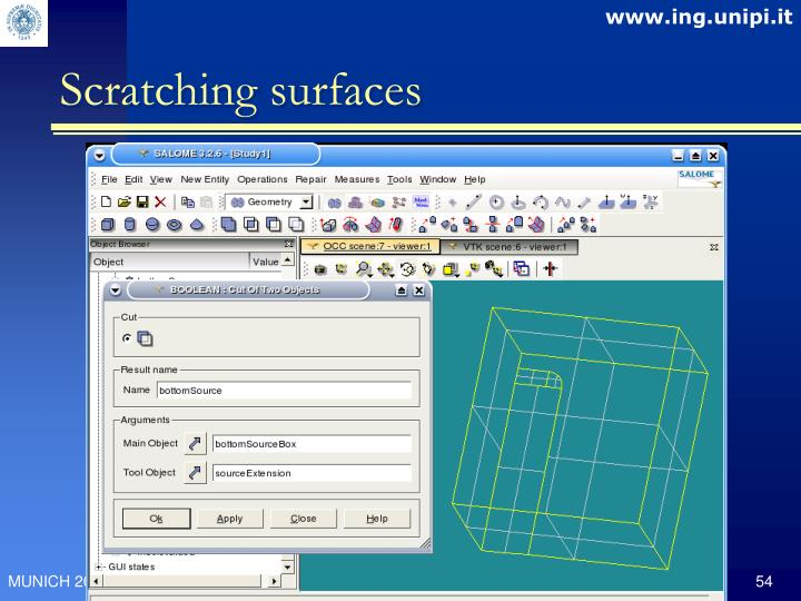 Scratching surfaces