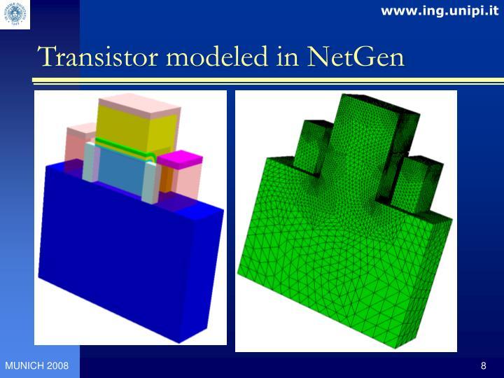 Transistor modeled in NetGen