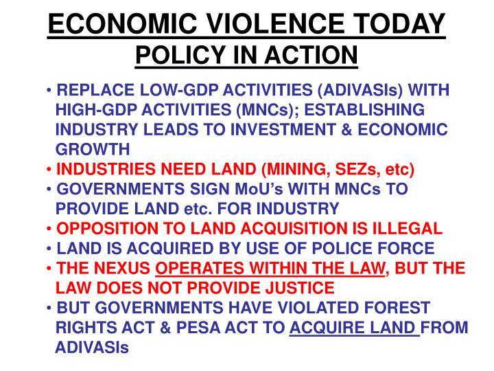 ECONOMIC VIOLENCE TODAY