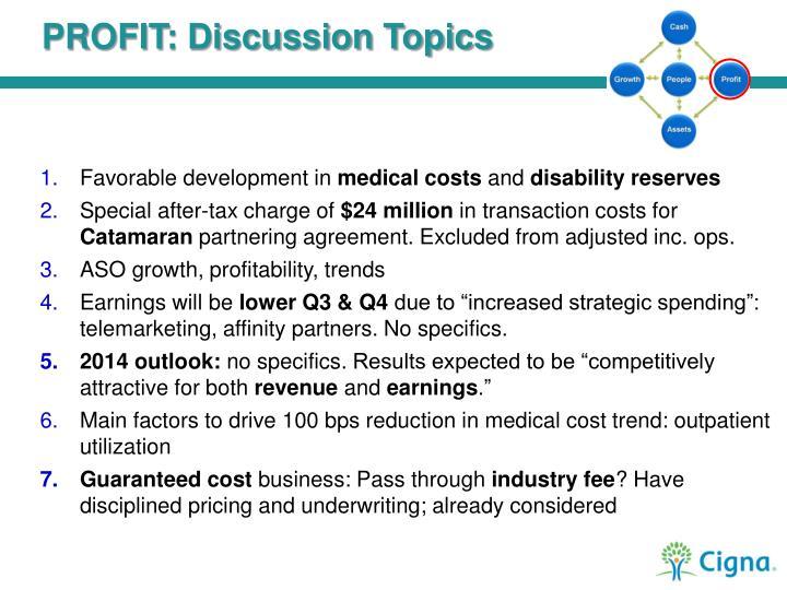 PROFIT: Discussion Topics