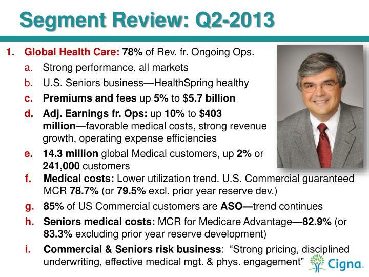 Segment Review: Q2-2013