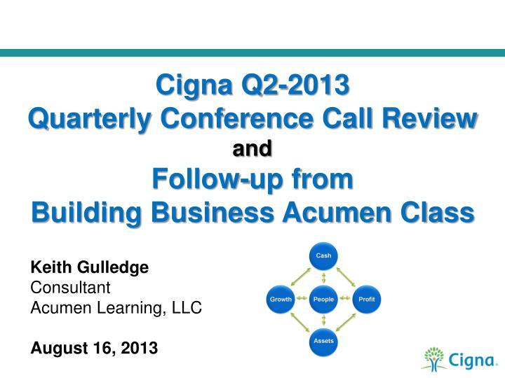 Cigna Q2-2013