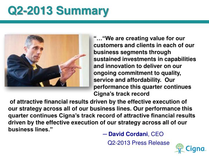 Q2-2013 Summary