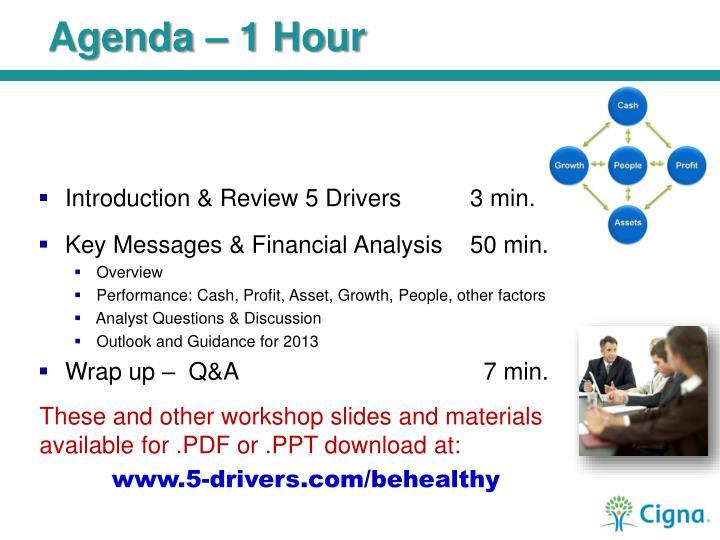 Agenda – 1 Hour