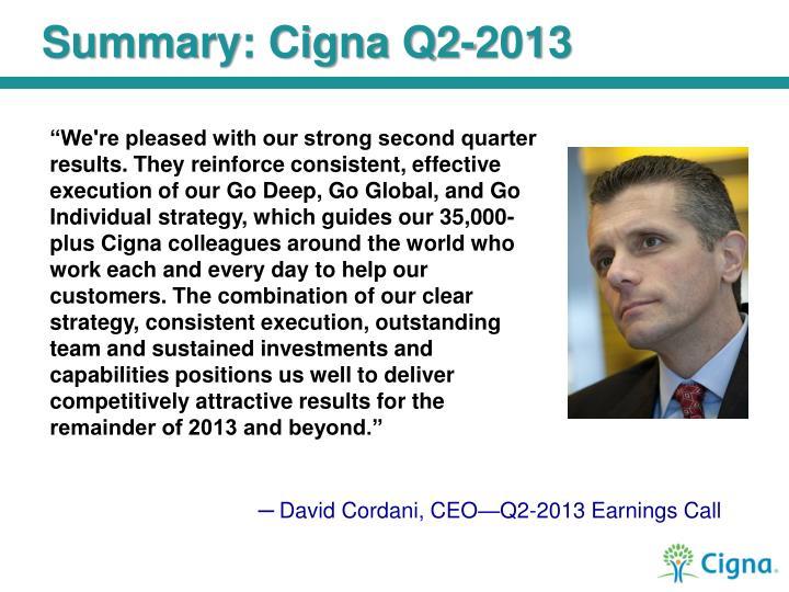 Summary: Cigna Q2-2013