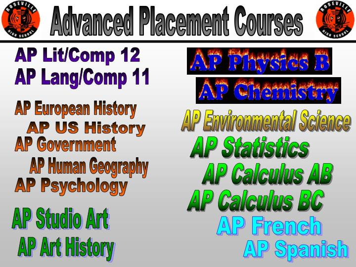 Advanced Placement Courses