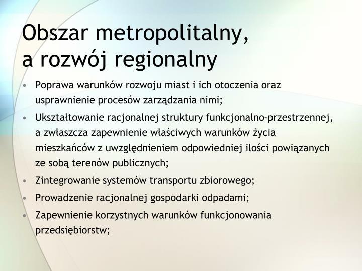 Obszar metropolitalny,