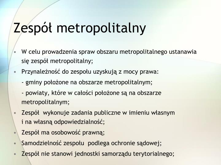 Zespół metropolitalny