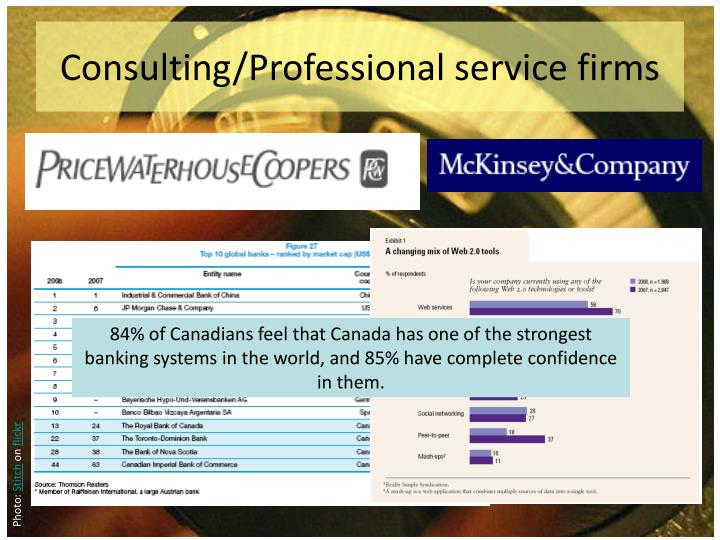 Consulting/Professional service firms