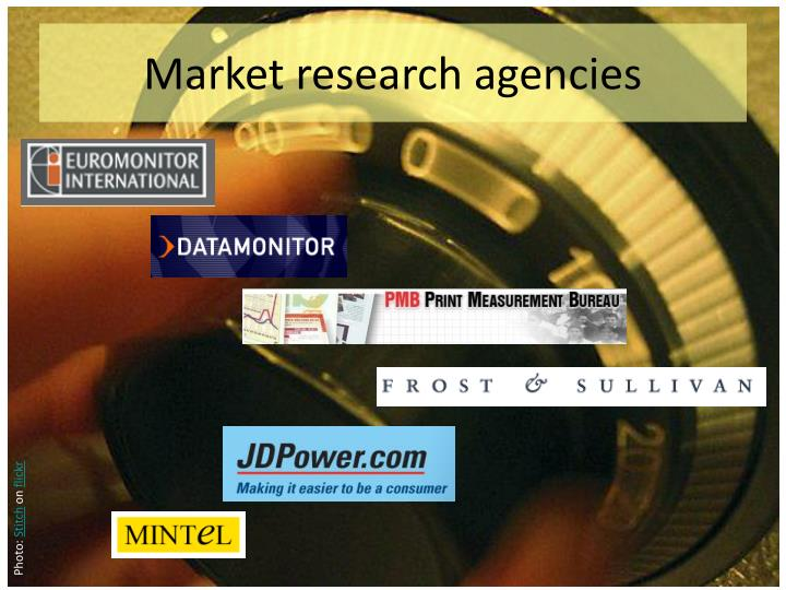 Market research agencies