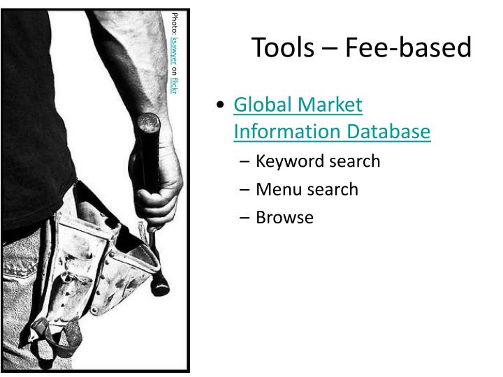 Tools – Fee-based
