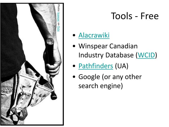 Tools - Free