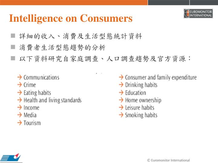 Intelligence on Consumers