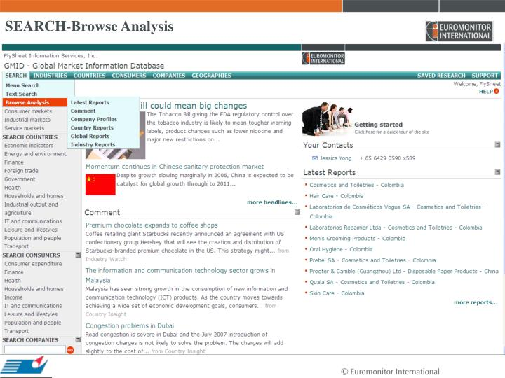 SEARCH-Browse Analysis