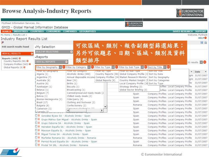 Browse Analysis-Industry Reports
