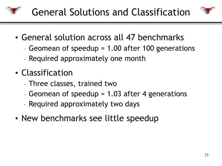 General Solutions and Classification