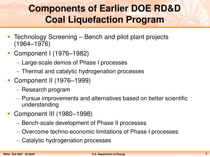 Components of Earlier DOE RD&D