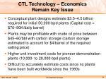 ctl technology economics remain key issue