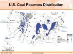 u s coal reserves distribution