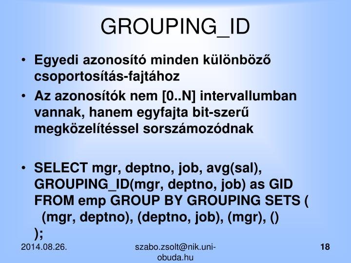GROUPING_ID