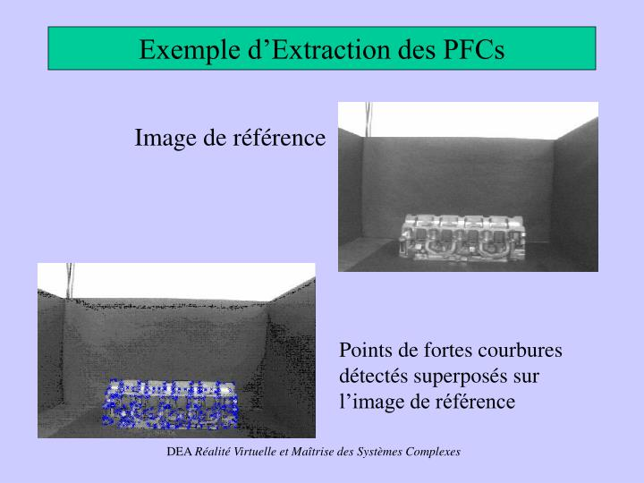 Exemple d'Extraction des PFCs