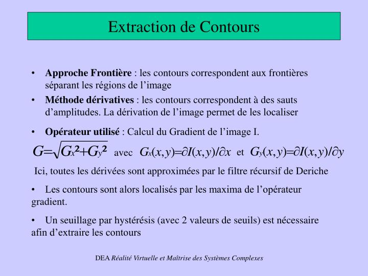 Extraction de Contours