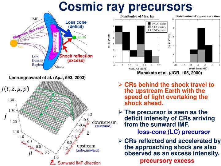 Cosmic ray precursors