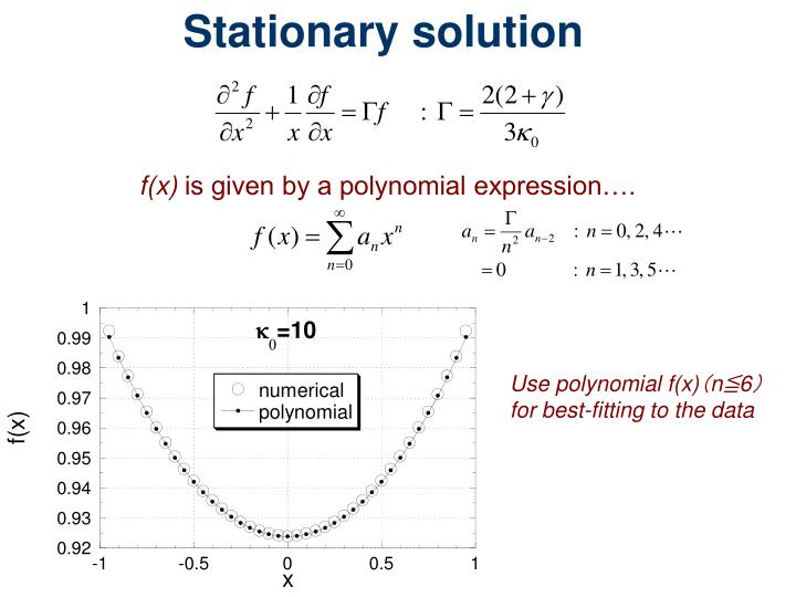 Stationary solution