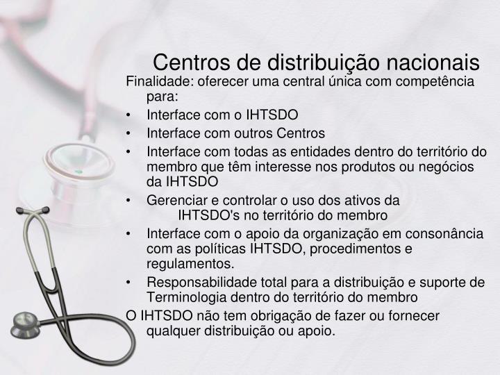 Centros de distribuição nacionais