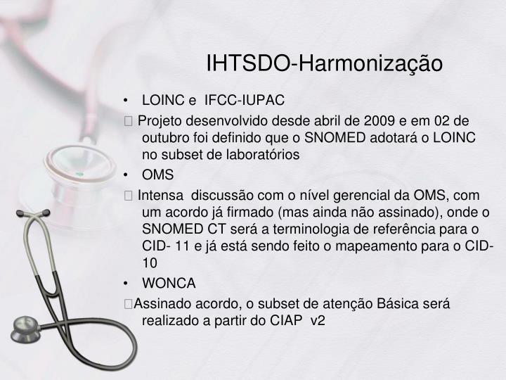 IHTSDO-Harmonização