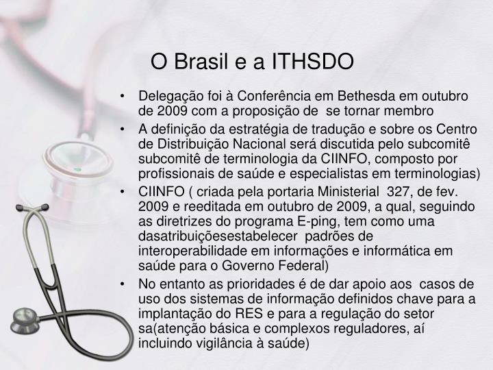 O Brasil e a ITHSDO