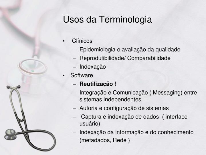 Usos da Terminologia