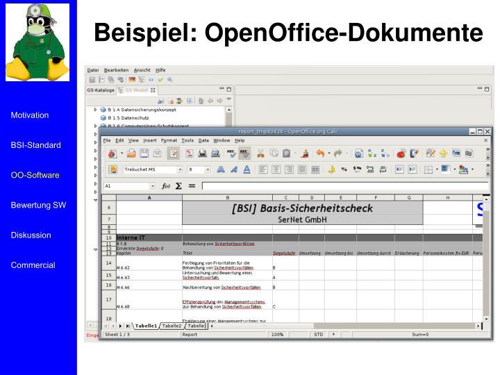 Beispiel: OpenOffice-Dokumente