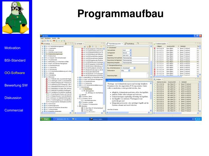 Programmaufbau