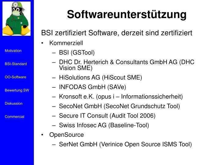 Softwareunterstützung