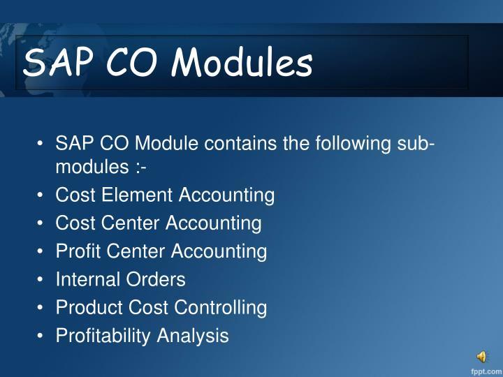 SAP CO Modules