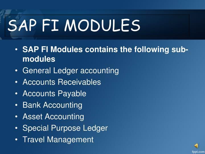 SAP FI MODULES