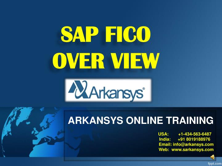 Sap fico over view