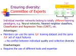 ensuring diversity committee of experts