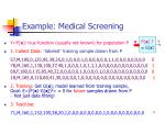example medical screening