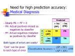 need for high prediction accuracy medical diagnosis