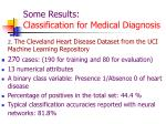 some results classification for medical diagnosis1