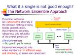 what if a single is not good enough the network ensemble approach