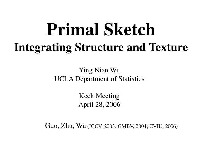 Primal Sketch