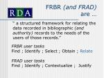frbr and frad are